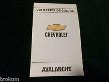MINT 2010 CHEVROLET EXTERIOR PAINT COLORS AVALANCHE NEW (BOX 712)