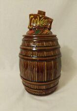 McCOY POTTERY Wood Barrel COOKIE JAR