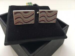 NEW Paul Smith Multicolour Stripe Cufflinks & Box FREEPOST £100 BARGAIN!!!
