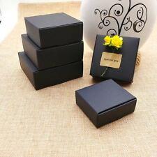 20x Black Kraft Paper Boxes -Party Wedding Favour Boxes-Bomboniere Box -Square