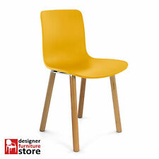 Replica Jasper Morrison Hal Dining Chair - Yellow Seat / Beech Wood Legs