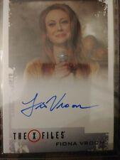 Fiona Vroom Autograph Card X Files Seasons 10 And 11 Rittenhouse 2018