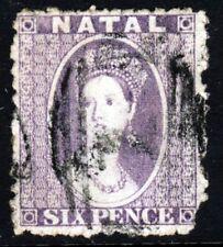 NATAL SOUTH AFRICA Queen Victoria 1863 6d. Lilac Wmk Crown CC P12½ SG 23 VFU