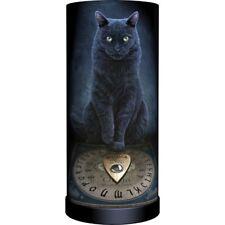"""His Master's Voice"" Black Cat w/ Ouija Spirit Round Lamp"