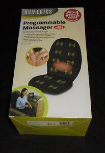 Homedics Programmable, 5 Motor Heat Setting Back Massager For Chair Or Car BNIB