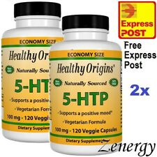 2x SOURCE NATURALS 5-HTP, 100mg, 2x 120 VCaps ~ 5-Hydroxytryptophan ~ EXPRESS ~