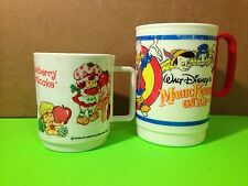 Lot Of 2 Vintage Disney And Strawberry Shortcake Mugs Collectible Gift