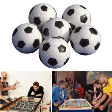 Eg _ 6PCS 32MM Mini Schwarz + Kunststoff Weiß Tisch Fußball Bälle Spiele