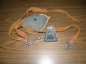 VINTAGE HANDMADE LEATHER CELTIC VIKING BELT WITH PURSE AND BUCKLE DRAGON HEAD