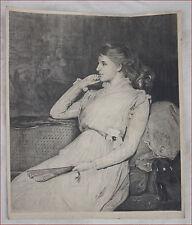 Lady Orchardson Ellen Moxon Etching L Gaucherel