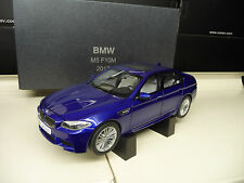 BMW M5 F10 2012 San Marino Blue DEALER Edition Paragon Kyosho 1:18 Free Shipping