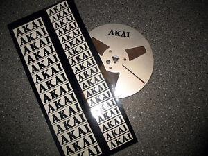 30 Stück AKAI Spulen-Aufkleber schwarz