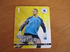 MANUEL NEUER - REWE - DFB - EM 2012 - Sammelkarte Nr. 1