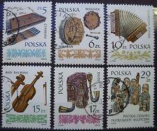 Polen 1984 Mi 2899-2904 - Alte Musikinstrumente (I)