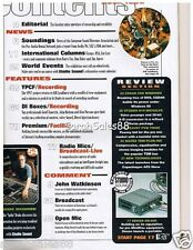 1996 Spike Drake INTERVIEW, Peavey PVM T9000, STUDER D19 MICVALVE PREAMPS Review