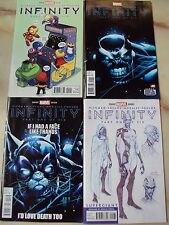 MARVEL INFINITY ISSUE 1 PLUS THREE VARIANT DEADPOOL SKOTTIE YOUNG SUPERGIANT