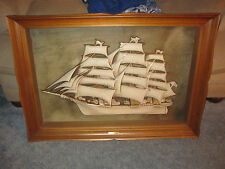 Vintage Turner Mfg Wall Art Nautical Ship Flying Cloud 1850 - Beautiful