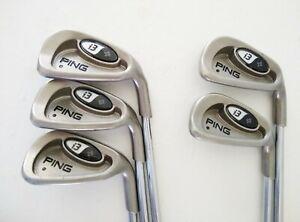 Set of 5 Ping i3+ Irons Black Dot 6-9 & W - Stiff Steel Shafts - Ping Grips  RH