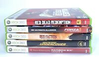 Microsoft XBOX 360 Ultimate Alliance Red Dead Rainbow Six Bundle Lot of 5 games
