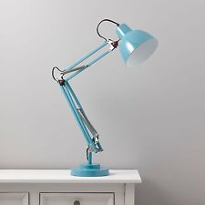 Isaac Blue Desk Lamp Retro Table Reading Flexible Study Office Bedside Home