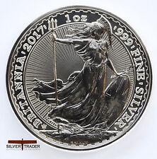 2017 1oz Silver Britannia 20th Anniversary 1 ounce Silver Bullion Coin unc: