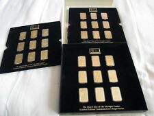 Olympic Games Ingots. 24 carat gold coated.  27 ingots plus posters and informa