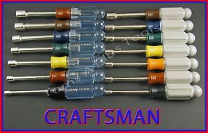 CRAFTSMAN HAND TOOLS 14pc SAE and METRIC MM Nut Driver set !! (FREE SHIPPING)!