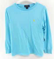 RALPH LAUREN Boys Long Sleeve T-Shirt Top 10-12 Years M Medium Blue Cotton