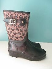 MICHAEL Michael Kors Rainboots Boots Rain sz 7 MK Logo