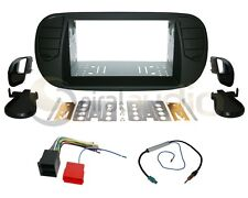 Radio Dash Kit Combo Standard 2DIN RUBBERIZED BLACK + Harness + Antenna FT10