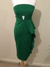 Womens Asos Green Party Occasion strapless dress size 16