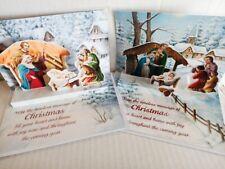 Tarjeta De Navidad Pop Up 3D Tarjetas De Navidad Natividad Escena Pack 2 tradicionales