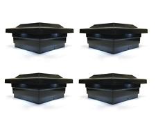 Solar Post Cap 5x5 Black Low Profile 4 SMD White LED Light ( 4 Pack ) PL252B