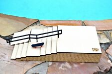 Fingerboard Ramp Obstacle Stairset 4 Flat 4 with Metal Rail