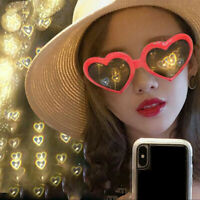 New Love special effects eyeglasses peach heart light glasses creative gifts