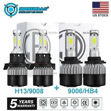 4× H13+9006 Headlight&Fog Lights for Dodge Ram 1500 2500 3500 2006-2009 6000K