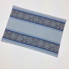 Snowflake Stripe Winter Christmas Gray Holiday Single Jacquard Cotton Placemat