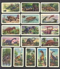 CIGARETTE/TRADE/CARDS.Brooke Bond Tea (Canada).DINOSAURS.(1963).(Full Set of 48)