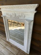 Vintage French Style Wood Wooden Large Mirror