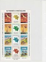 s.tome e principe mint never hinged u.p.u. stamps sheet ref r11484