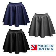 Teens Skater School Skirt Navy Grey Black School Skirt Uniform Ladies Xs - Xl