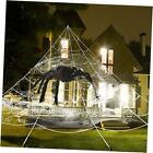 Giant Yard Halloween Decorations Outdoor Spider Web with Big Spider and