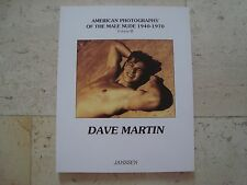 DAVE MARTIN American photography of the male nude 1940-1970 gay interest BOOK