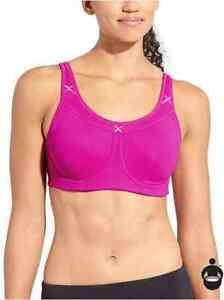 ATHLETA Glory Sports Bra Bright Pink Fuscia 34B