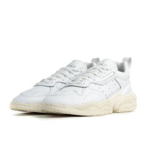 Scarpe Sneakers Uomo ADIDAS ORIGINALS SUPERCOURT RX Bianche in Pelle Mis EU 48