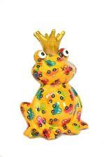 Spardose Frosch mit Krone Pomme Pidou  Sabo Design Charlie gelb mit Autos