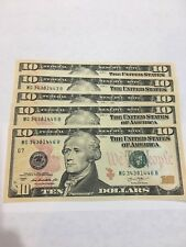 5 --$10 dollar bills (Total $50) 2013 Uncirculated US Currency