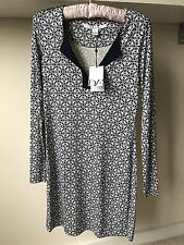 Diane von Furstenberg ladies cream floral print pure silk tunic dress sz 4 BNWT