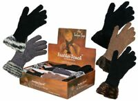 Women's Ladies Winter Warmer Luxury soft feather touch Boutique Gloves with Cuff