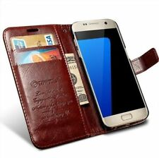 Housse cuir + range carte Samsung Galaxy S7 G9300